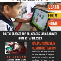 Digital Classes Starting from 1st April for all Grades