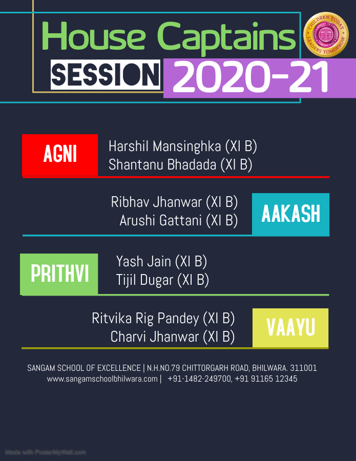 House Captains 2020-21 | Seniors