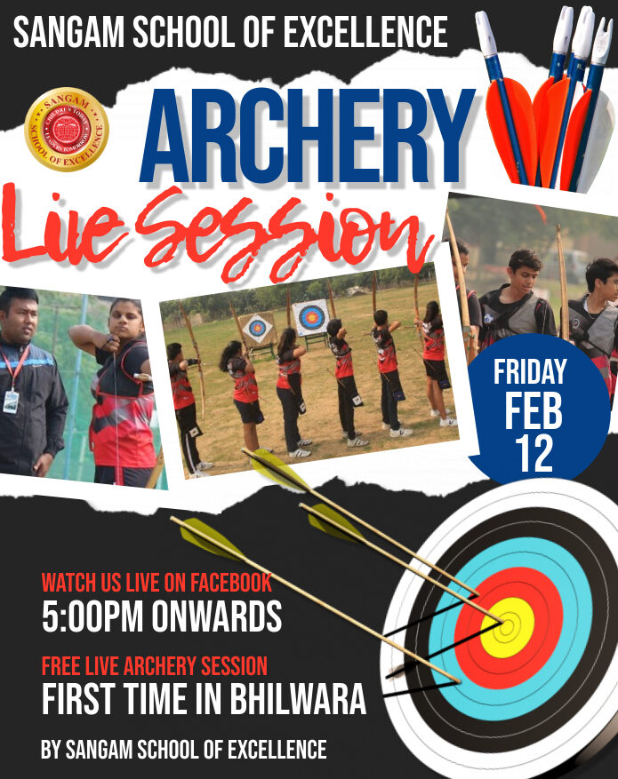 Archery Live Session on Facebook 12th Feb – 5 PM