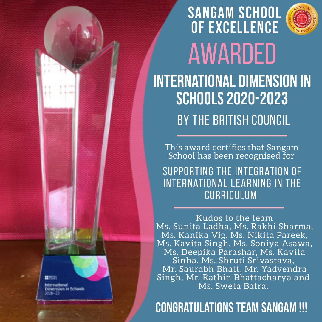 Its a Hat-trick- Awarded for International Dimension in School 2020-23