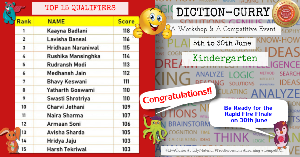 Diction Curry – KG Top 15 Qualifiers