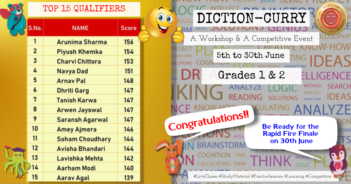 DICTION CURRY – TOP 15 QUALIFIERS